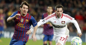 Magical Messi bags five against Leverkusen