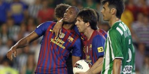 Barca draws with Betis to end Guardiola's last season