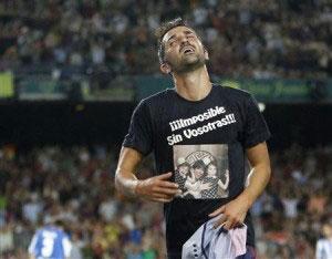 david villa celebrating his comeback