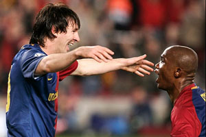 messi and eto'o