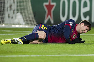 messi injured against benfica