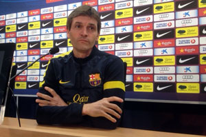 tito vilanova at a press conference today