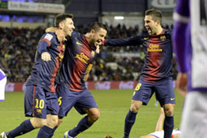 valladolid vs barcelona 2012
