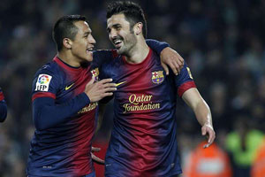 alexis sanchez and david villa