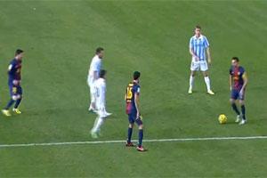 barcelona triangular passing