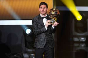 leo messi at the golden ball awards