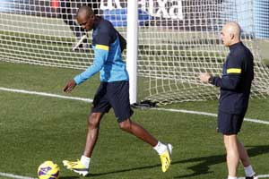Abidal in training
