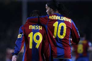 messi and ronaldinho