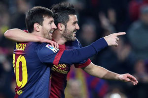 messi and villa