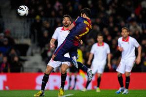villa goal against seville 2013