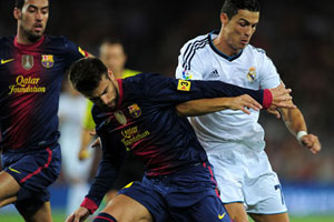Cristiano Ronaldo and Gerard Pique