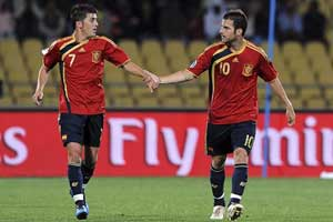 Villa and Fabregas