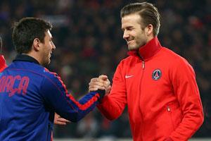 Leo Messi and David Beckham