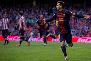 Messi scores against Athletic Bilbao