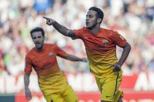 Thiago scores Barcelona's first