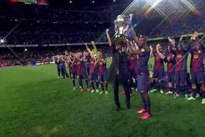 Barcelona League Champions 2013
