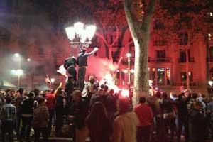 Canaletes fountain Barcelona