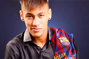 Neymar signs for Barcelona