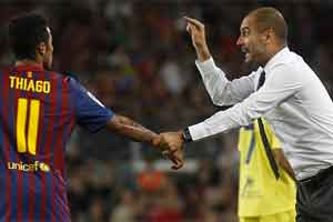 Thiago and Guardiola
