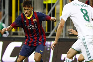 Neymar debut for Barca