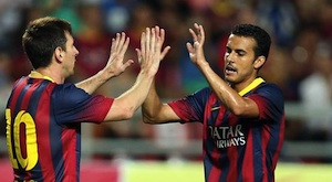 pedro and messi