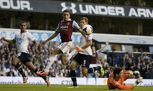 ravel morrison goal against tottenham