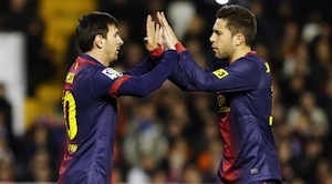 leo messi and jordi alba