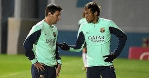 messi neymar training
