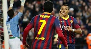 pedro and alexis sanchez
