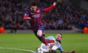 Demichelis brings down Messi