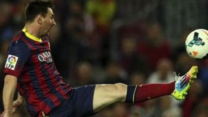 messi at full stretch