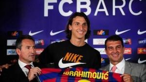 Zlatan signs for Barcelona