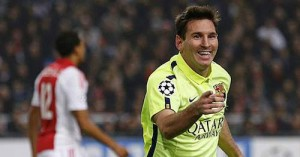 leo messi equals raul's record