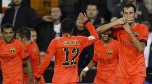 valencia vs barcelona 2014