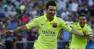 messi scores to win league title