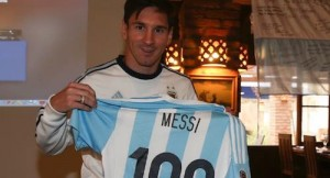 Leo Messi 100 games for Argentina