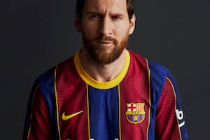 Messi new Barcelona Kit